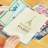 Korea stationery city image cover Large notebook diary notebook, 5pcs/lot