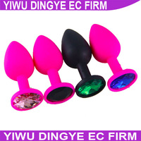 Gay Jewelry Anal Toys,Silicone Anal Toys  Diamond Butt Plug Insert Stopper, Unisex Sex Toys Adult Sex Products
