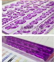 New 6Pcs/lot Alphabet Number & Letter Fondant Decoration Mold Cookie Biscuit Sugarcraft Stamps Cake Embosser Cutter