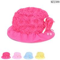 New 1piece Fashion flower girl Sun hat Children/Kids , Lovely Cute Dress Up Hat, infant/newborn headgear