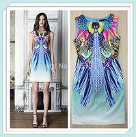 [REAL SHOT] Free shipping 2015 Spring And Summer Fashion Printing Fresh Style Dress