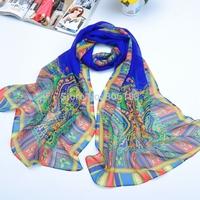 S023 new style Fashion print 20 pcs per lot Long scarf chiffon 160cm*50cm shawl Muslim Hijab