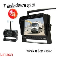 waterproof 12V~24V DC  wireless car camera and monitor for forklift truck