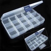 10/15 Grids Guitar Picks Box Clear Plastic Storage Box For Guitar Plectrum & Guitar Accessories