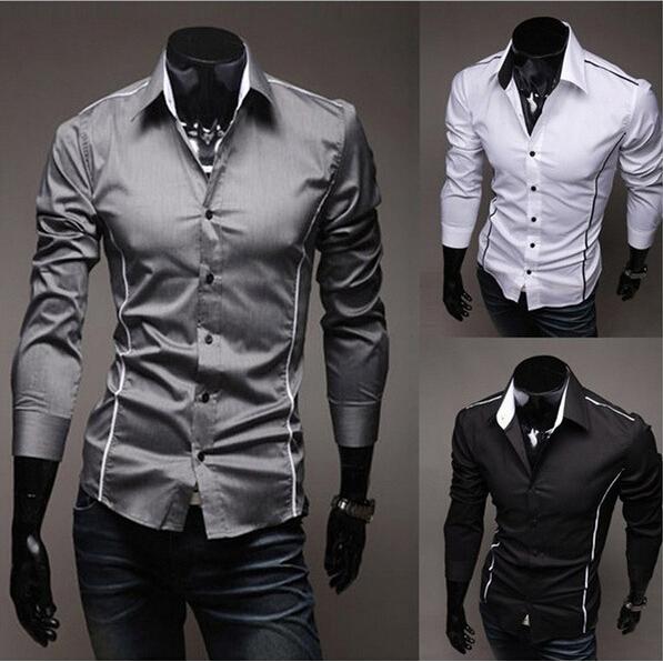 все цены на Мужская повседневная рубашка --- ,  Slim Fit 3 , LM0101 онлайн