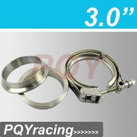 """J2 RACING STORE-3 inch V-Band QUICK RELEASE CLAMP and COLLAR SET 76mm(3"""") STAINLESS STEEL Vband Kit PQY6285"""