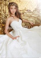 2014Free Shipping vestido de noiva New Sexy Sweetheart Beaded Taffeta A Line Tiered Princess Vintage Wedding Dress Bridal Gowns_
