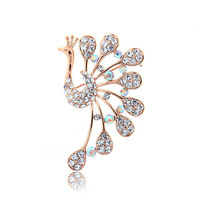 2015 new Hot Sale  High Quality Brooches Crystal Rhinestone Personalized Peacock Broches For Wedding  hijab pins Luxury jewelry