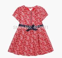 2015 girls clothing little girls dress red dobby cotton fantasy child dresses clothes infant girls 2-12Ages dressed infantis