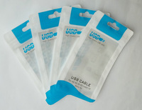 8x14cm USB Data line plastic Retail Packing Bag for iphone 4G 5G 5S 6G note3 v8 Micro Charging Cables ziplock Packaging bags