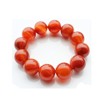 2015 Free shipping Natural  5A Quality  genuine red agate beads bracelet red stripe 8-16MM for men&women Lucky beads not dyed
