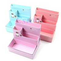 D19 Foldable Mini DIY Paper Board Storage Desk Decor Stationery Organizer Makeup Cosmetic Box Hot Sale
