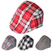 (18 Colors) 2015 Spring Autumn Cute Plaid Kid Toddler Infant Boy's Baby Girls Hat Casquette Peaked Baseball Beret Cap for 1-4T