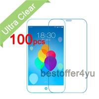 (100pcs film + 100pcs cloth) Anti-scratch CLEAR LCD Screen Protector Guard Cover Film For MEIZU Meilan Note Protective Film