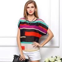 2015 Sale Female Shirt Women Blouse Roupas Blusas Femininas Batwing Chiffon Shirts Cheap Clothes China Brand Tops Women Blouse