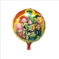 Free Shipping~ 10pcs/lot 18 inch Wholesale Aluminum foil balloon round buzz lightyear balloon for party