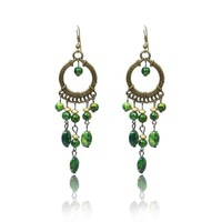 green hook chocker drop dangle ethnic vintage earrings for women birthday party gift copper alloy