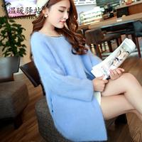 2014 kojah cashmere sweater outerwear female medium-long thickening cardigan overcoat