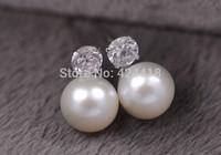 ladies luxurious pearl earrings 100% freshwater pearls  earrings