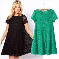 Women Summer Dress Top Fashion Jersey Trumpet / Mermaid Vestidos De Fiesta 2015 New Female And The Wind Kaleidoscope Dress Lace