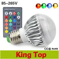 2015 New Arrival LED RGB Bulb E27 9W AC 85-265V rgb led Lamp with Remote Control multiple colour led rgb lamp colourful lighting