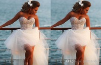 Short Prom Dresses Rushed Beading 2014 New Fashion Sweetheart Beaded Evening Dresses Sexy Low Prom Dress Party E621_bridalk