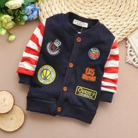 2015 new spring boys coats baby outerwear stripe kids jackets children clothing wholesale sslp13