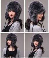 Winter Hat Real Fox Fur Hat Russian Ushanka Cossack Women Beanie HC 011 1