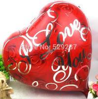 Free Shipping~ 10pcs/lot 18 inch Wholesale Aluminum film balloon/ helium balloon/hearts rose balloon