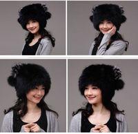 Winter Hat Real Fox Fur Hat Russian Ushanka Cossack Women Beanie HC 009 1