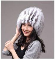 Winter Hat Real Fox Fur Hat Russian Ushanka Cossack Women Beanie HC 015 1