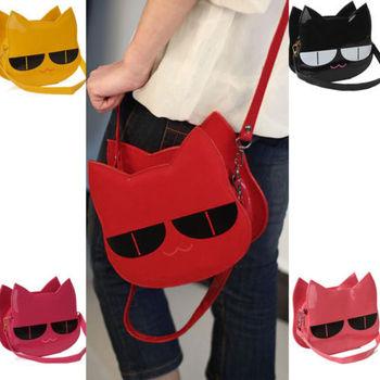 Бесплатная доставка корейских женщин девушка сумки # симпатичные прекрасный кот сумка почтальона сумочки PU сумка B066