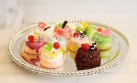 1pcs Diameter 25cm wedding home restaurant Metal silver cake thicken pan snack dessert prop plate cupcake tray