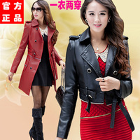 Leather female official website features a large yard plus thick velvet coat PU Women jackets women female European leg of forei