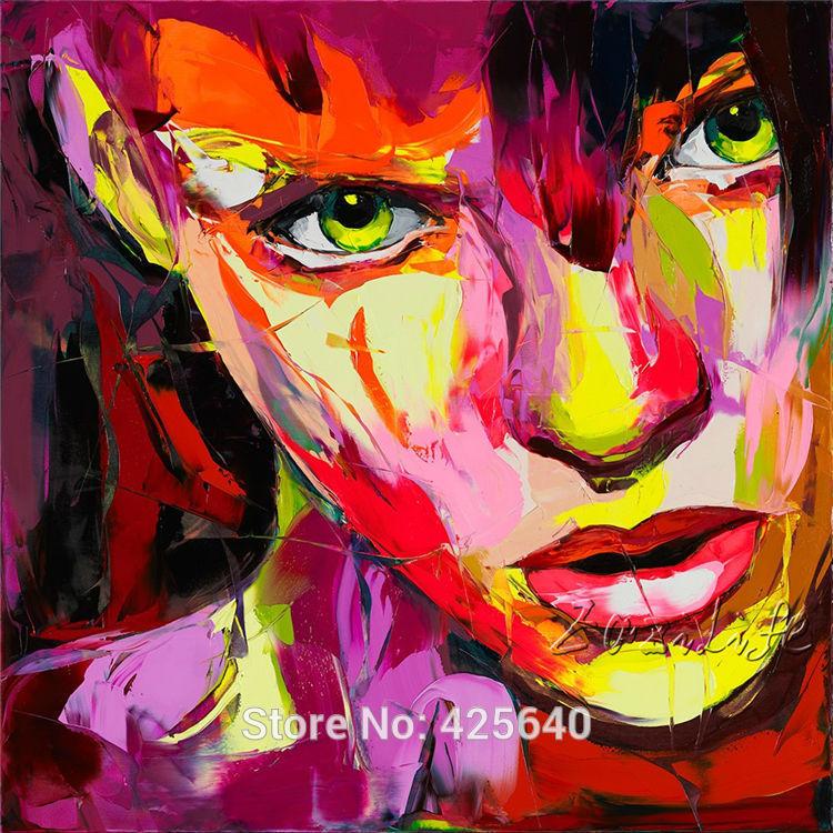 Francoise nielly stree kunst pop art schilderen met olieverf op doek