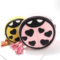 4 Colors PU Leather Circular Women Messenger Small Shoulder Bag Crossbody Bags For Women bolsas femininas 2015