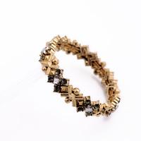 Fashion fashion accessories vintage exquisite metal gem women's elastic bracelet
