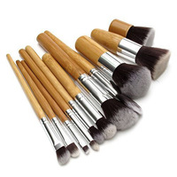 11Pcs Makeup Tools Kit Cosmetic Eyeshadow Foundation Concealer Brushes Sets