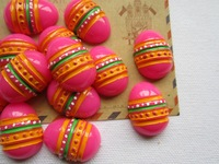 Free Shipping! Min. order is $10 (mix order), New Easter Hot Egg,  Resin Flatback Cabochons for Hair Bow Center, DIY (21*27mm)