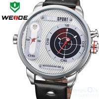 WEIDE Sport Watch Multiple Time Zone Men Quartz Watch Dive Wristwatch Free Ship