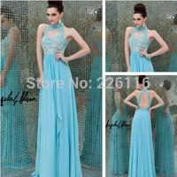 2014 Off The Shoulder Natural New Vestido Longo Selling Limited Lace De Renda Long Beautiful Chiffon Evening Dress Porn_bridalk