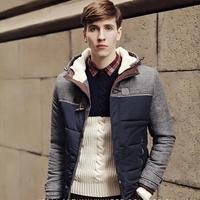 2015 new men Slim Korean men's youth thick winter coat jacket thicker Aozai