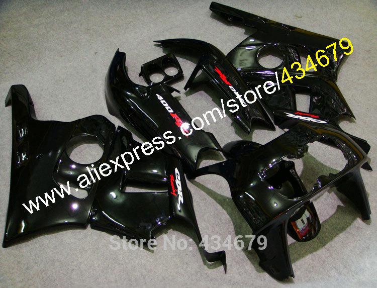 Hot Sales,Customize ABS Fairings For Honda CBR400RR NC29 1990-1998 CBR 400 RR NC29 90-98 All Black Bodywork Body Kits(China (Mainland))