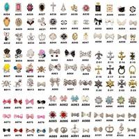 10Pcs Random Styles Fashion 3D Metal Nail Art Decoration / Cellphone Rhinestone Glitters Decoration + Free Shipping (NR-WS71)