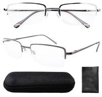 Rectangle  Half Rim Spring Hinges Reading Glasses R1511 +0.50/0.75/1.00/1.25/1.50/1.75/2.00/2.25/2.50/2.75/3.00/3.50/4.00