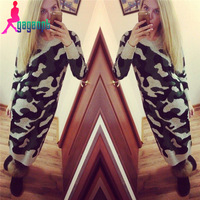 Gagaopt one-piece dress 2015 Woolen camouflage woman long dress mid calf straight geometric winter female basic dress