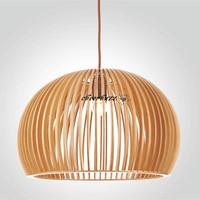 "Dia33cm/13""Fast Shipping New Design Loft Bar  Wood Pendant Lights Lamps Natural Color Lighting PL183-33"