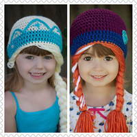 2015 Newest Handmade Sister's Hat kids hat  crochet hats for childre hat 6pcs/lot free shipping