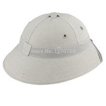 VIETNAM WAR ARMY HAT NVA VIETCONG VC PITH HELMET GRAY 33662