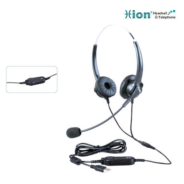 Lightweight Binaural Call Center Headset with USB plug(China (Mainland))